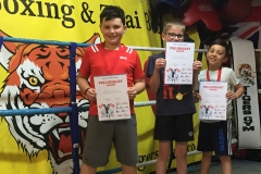 Juniors at Tigers with their Boxing Awards